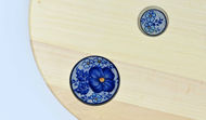 Picture of ROUND DECOR BOARD with Ceramic Insert 3+1 - FLORAL Theme