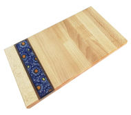 Picture of SMALL DECOR BOARD with Ceramic Insert - floral motif