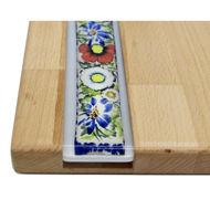 Obrazek Taca ozdobna mała - ceramika motyw Kwiaty