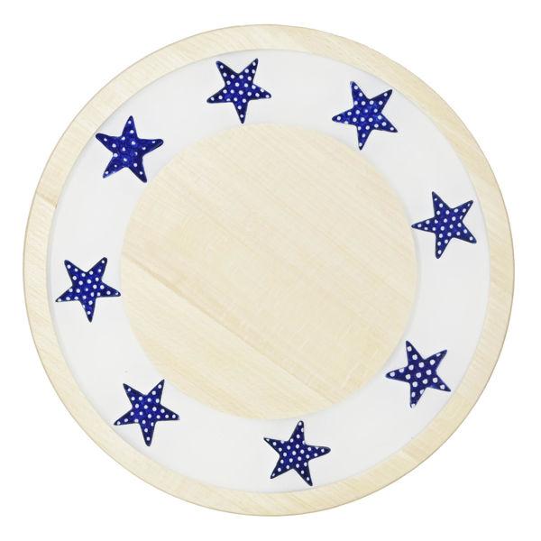 Obrazek Taca ozdobna mała obrotowa – ceramika kobalt
