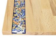 Obrazek Taca ozdobna duża ZNAMMI Ceramika Kwiaty mix