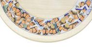 Obrazek Taca ozdobna mała obrotowa ZNAMMI Ceramika Kwiaty