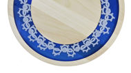 Picture of ROUND DECOR BOARD with crochet motiv