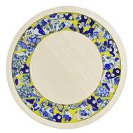 Obrazek Taca ozdobna mała obrotowa ceramika - KWIATY Mix